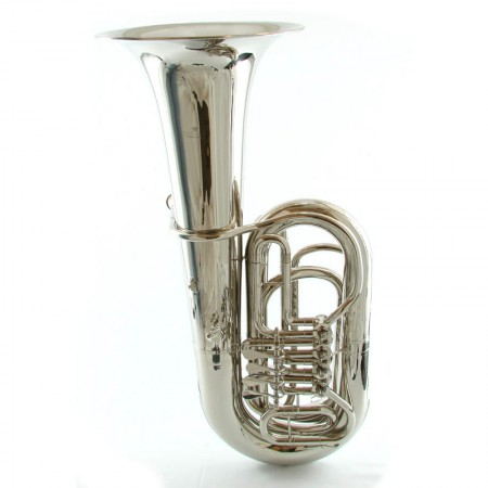 BB 4 Valve Rotary Tuba – Nickel Plated