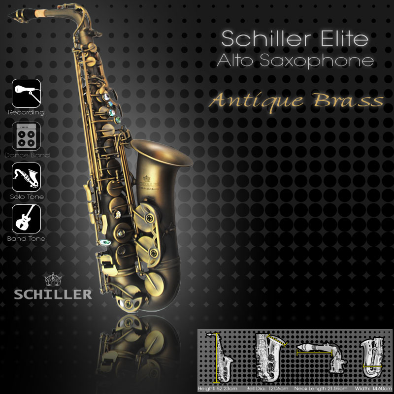 Elite Luxus Alto Saxophone – Antique Brass Finish