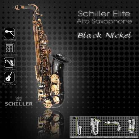 Elite V Alto Saxophone – Black Nickel & Gold