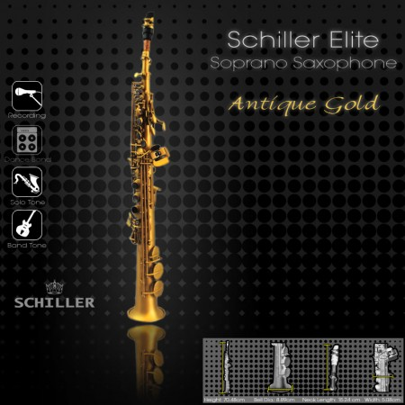 Elite Soprano Saxophone V Luxus – Antique Gold