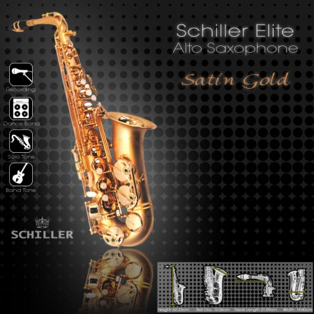 Elite V Alto Saxophone – Gold Satin