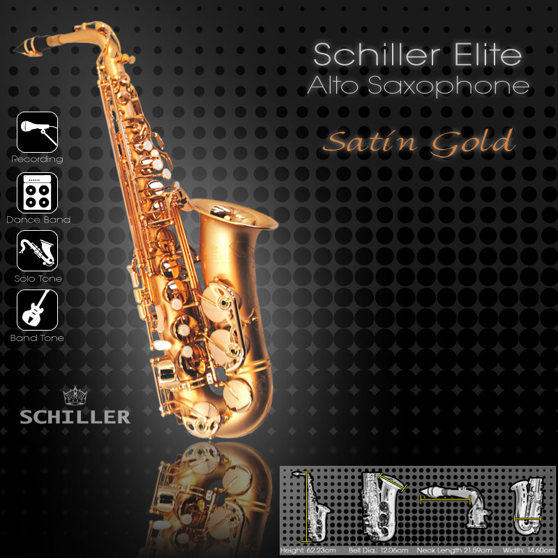 Elite Luxus V Alto Saxophone – Gold Satin