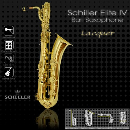 Elite IV Baritone Saxohone – Gold Lacquer