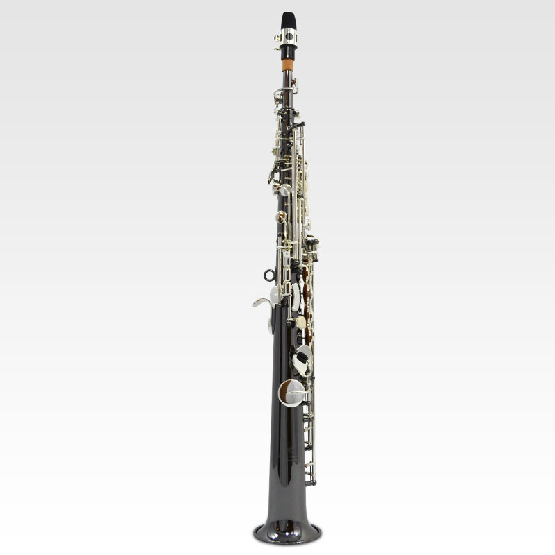 Elite V Soprano Saxophone – Black Nickle Plated w/ Silver Keys