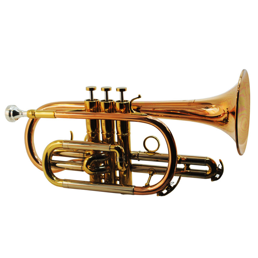 CenterTone Bb Cornet – Rose Brass w/ Gold Accents