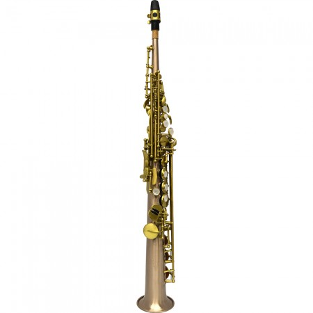 Elite V Soprano Saxophone – Brushed Rose Steel Stainless Finish