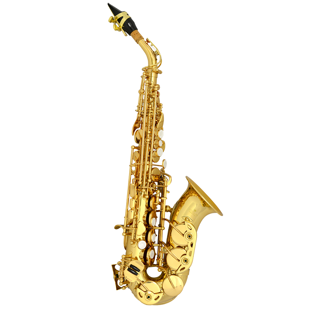 American Heritage Soprano Curved Saxophone – Gold Lacquer