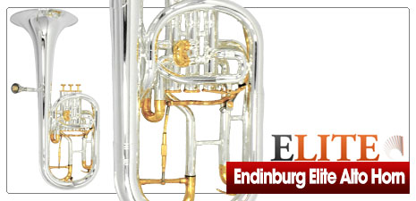 Edinburg Elite Alto Horn Silver and Gold