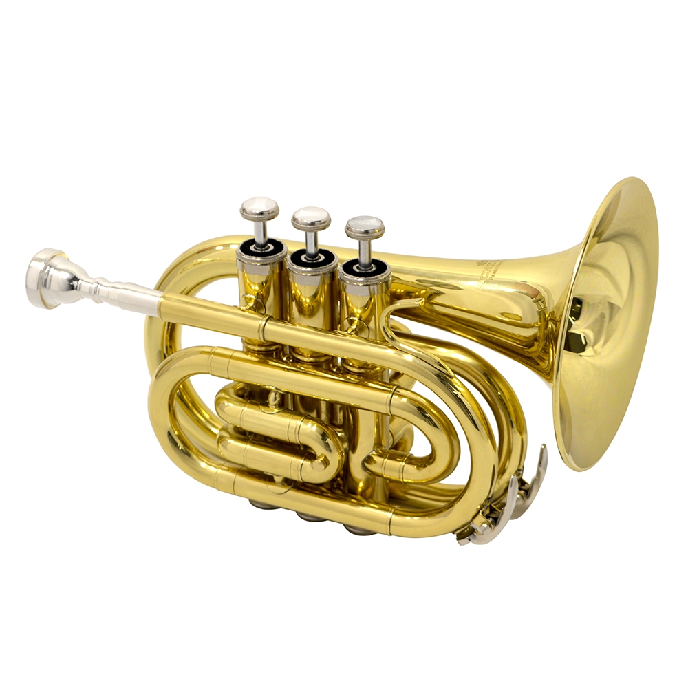 American Heritage Pocket Trumpet Pro – Gold Lacquer