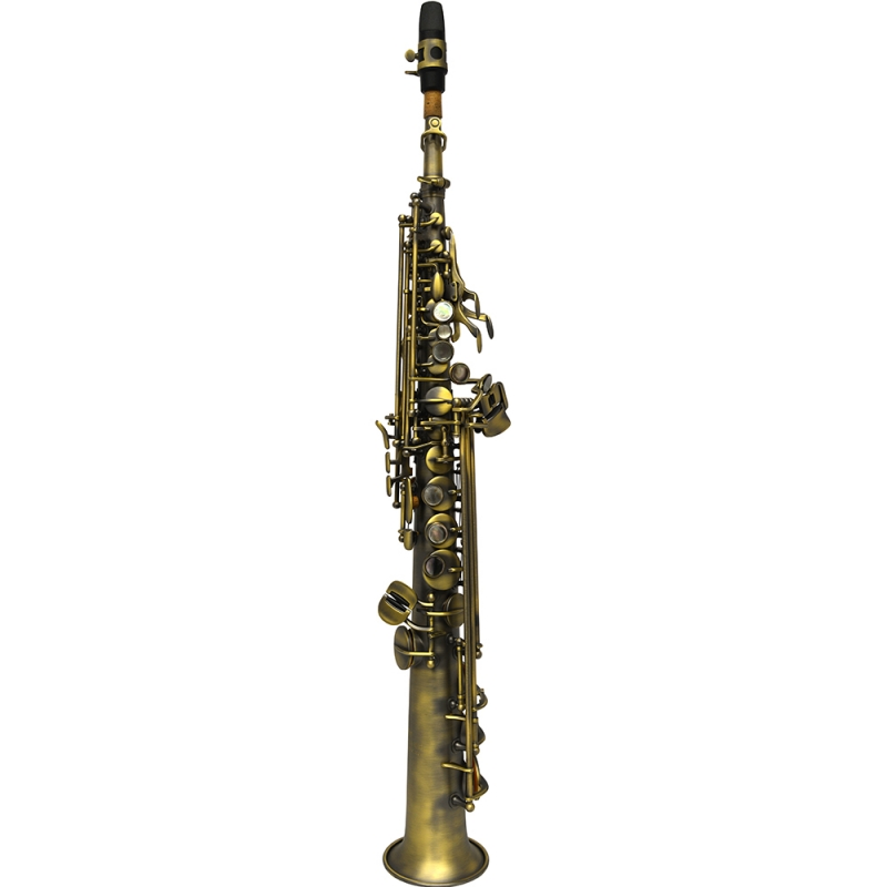 Elite Soprano Saxophone Brushed Bronze Finish