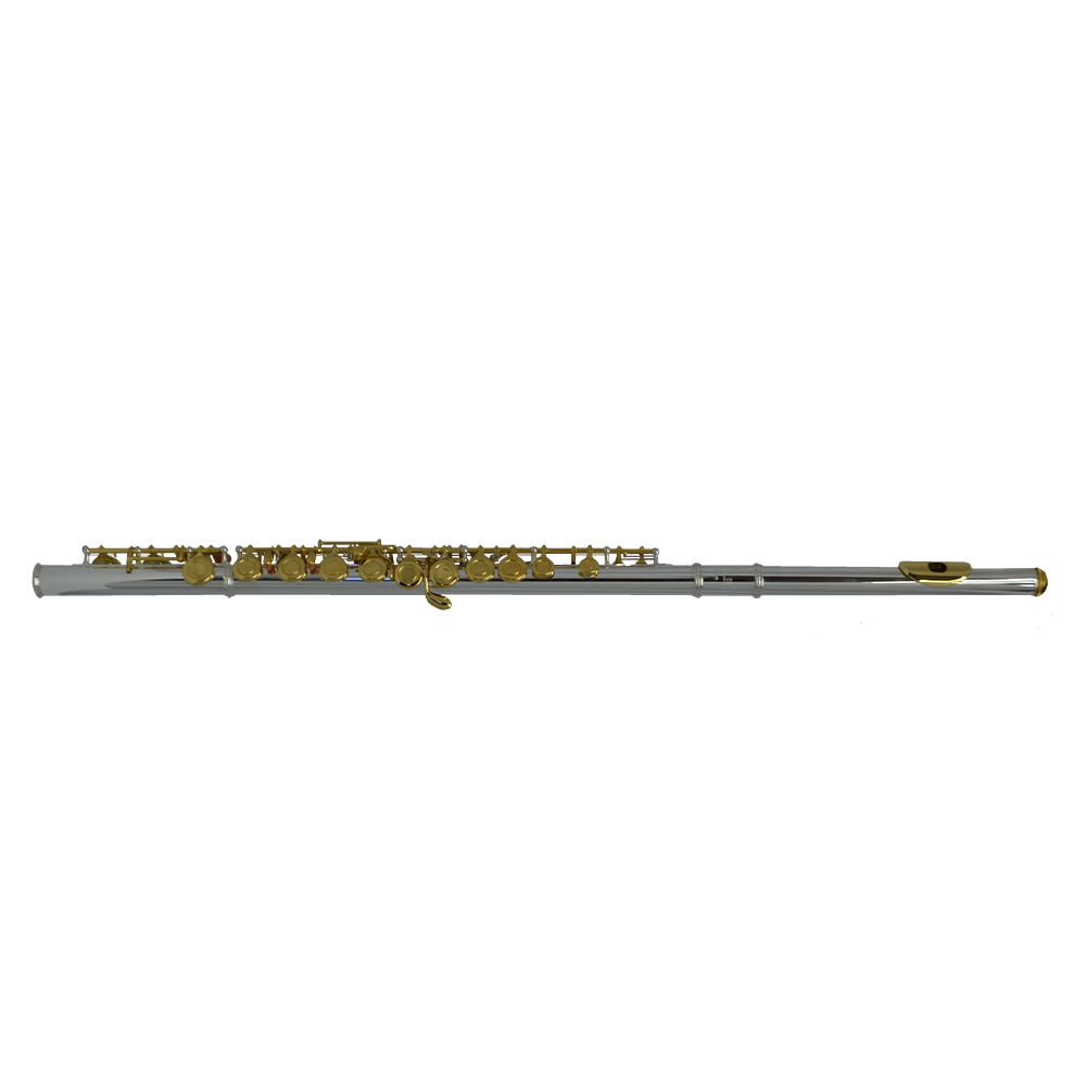 200 Series Flute – Silver Plated with Gold Keys
