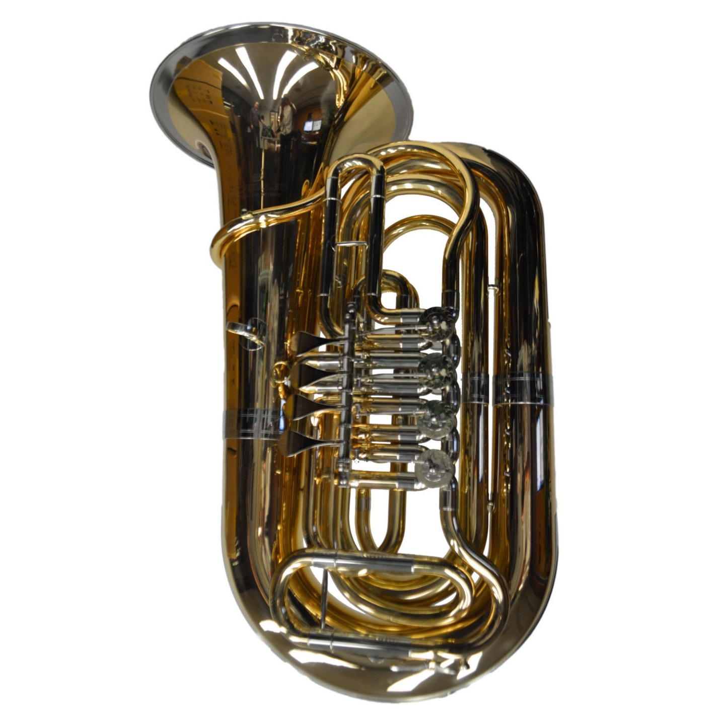 American Heritage 4 Valve 3/4 Rotary Tuba – Bronze Rose w/ Bell Ring
