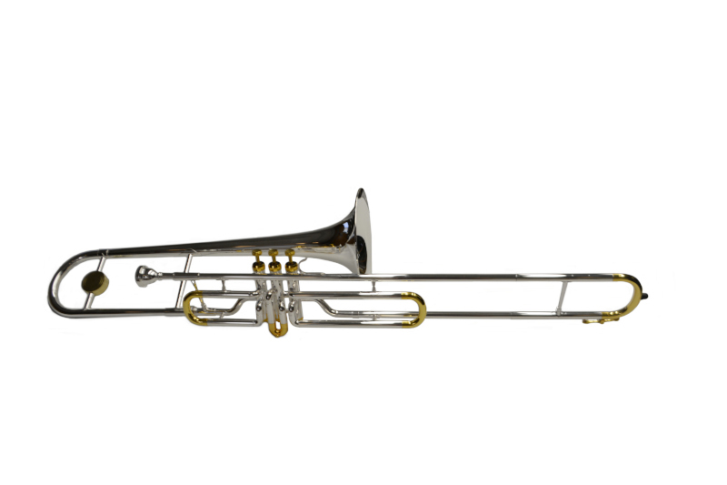 American Heritage Bb Valve Trombone Silver and Gold