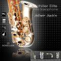 Elite Luxus V Alto Saxophone – Silver Satin & Gold