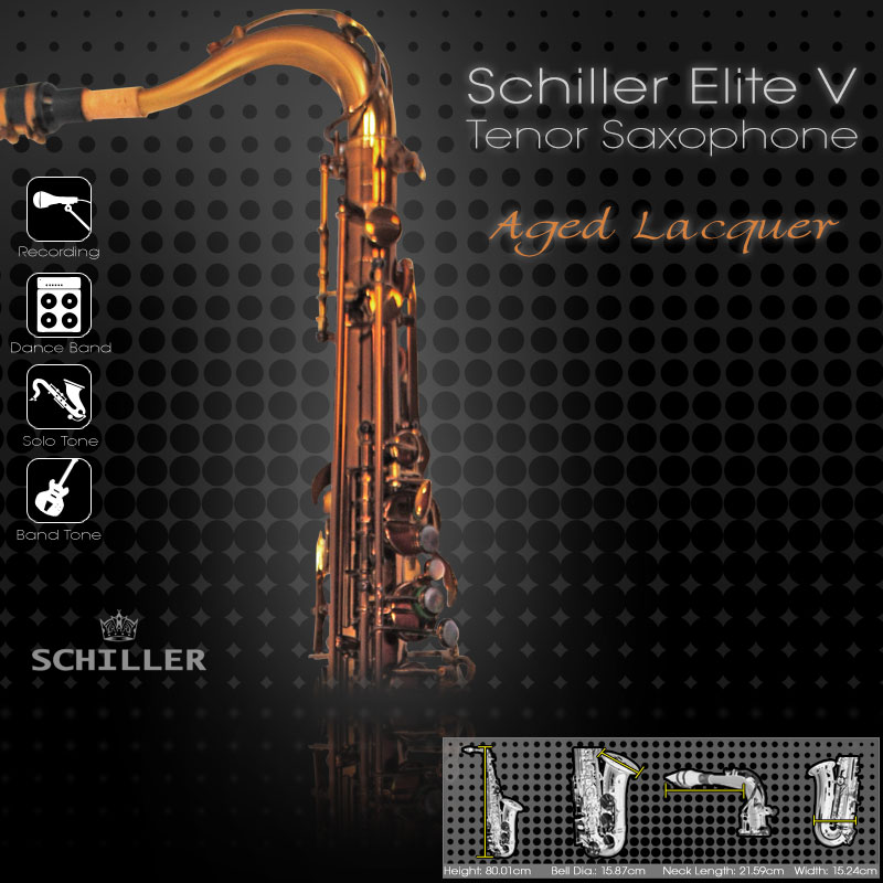 Elite Luxus V Tenor Saxophone – Aged Gold Lacquer