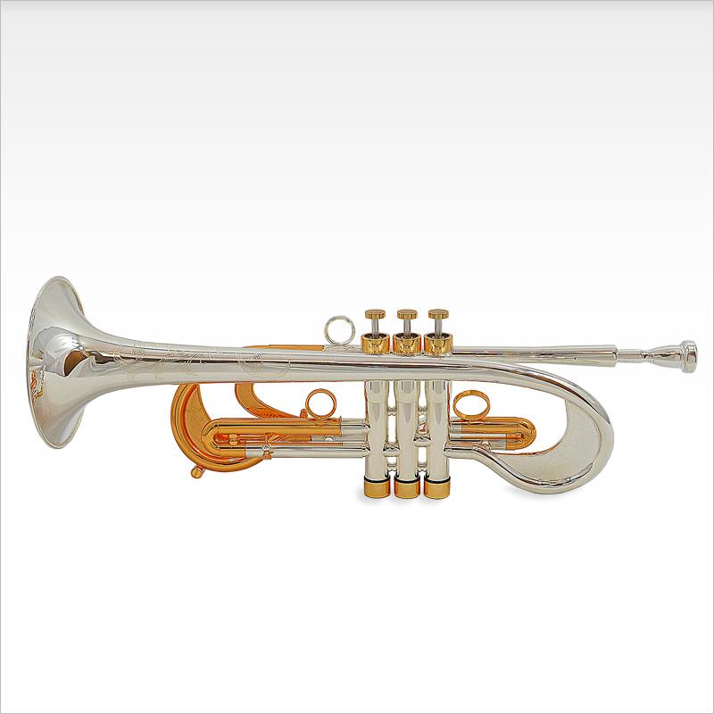 Old City Taj Bb Trumpet – Silver & Gold