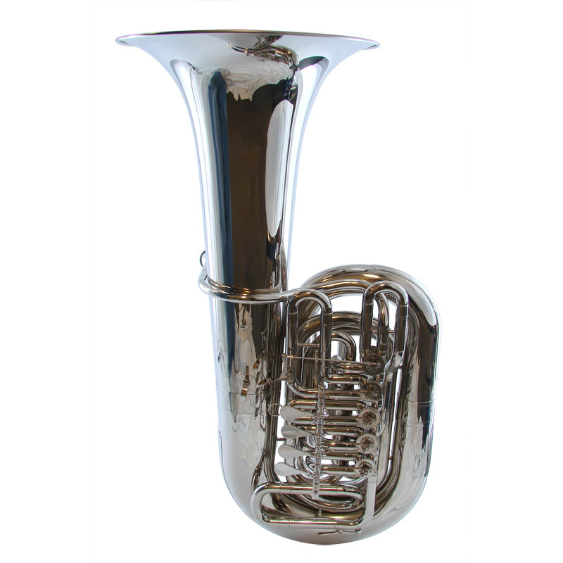 American Heritage 5 Valve Rotary C Tuba – Nickel