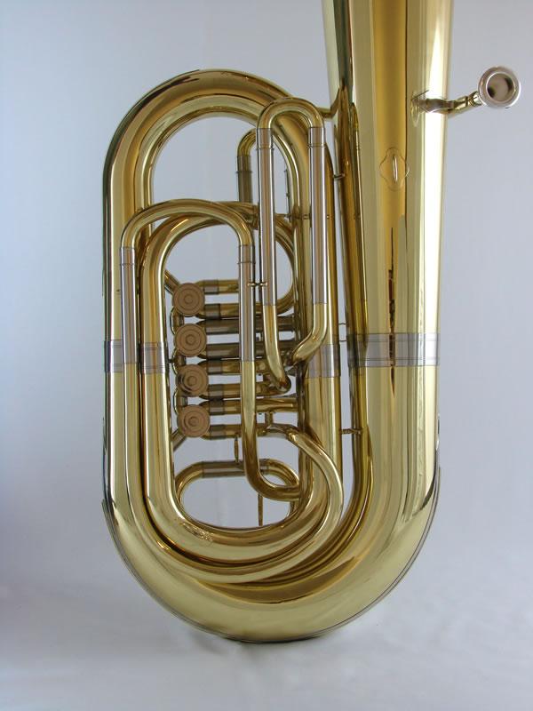 American Heritage 4 Valve Rotary BB Tuba – Gold Laquer