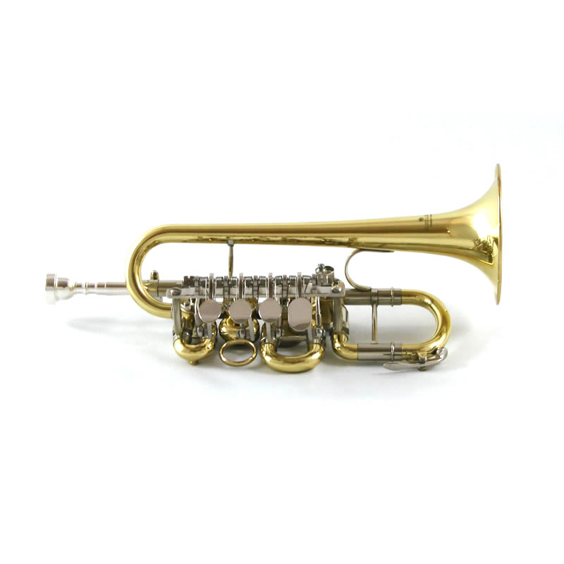 Elite Rotary Valve Piccolo Trumpet on Rotary Valve Trumpet