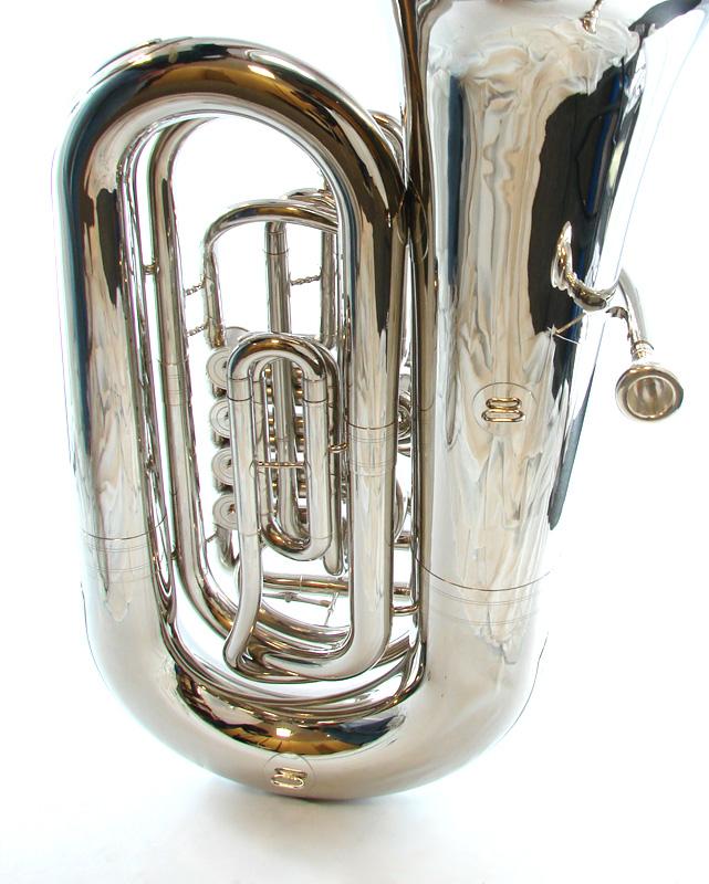 American Heritage 4 Valve BBb Rotary Tuba – Nickel