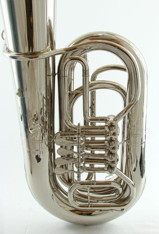 American Heritage BB 4 Valve Rotary Tuba – Nickel Plated