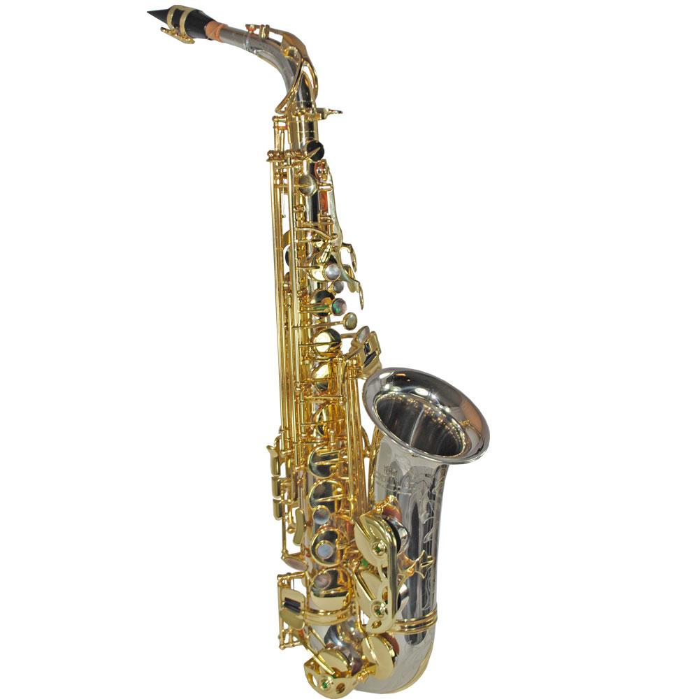 Elite V Alto Saxophone – Silver & Gold