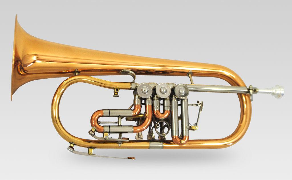 Flugelhorn Elite Rotary w/ Rose Brass Bell