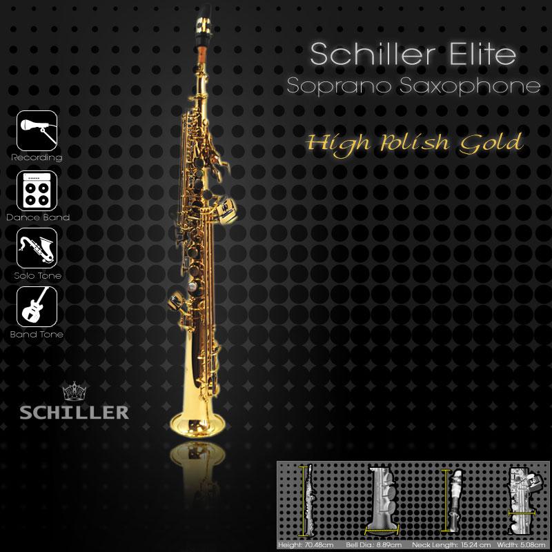 Elite IV Soprano Saxophone – Gold