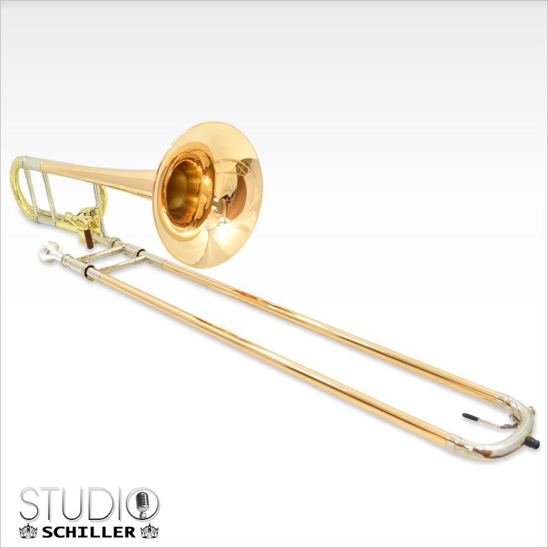 Studio Hagmann Trombone with Gold Brass Bell