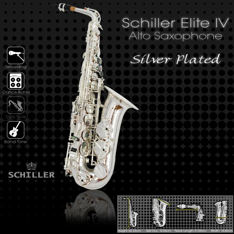Elite Luxus IV Alto Saxophone – Silver Plated