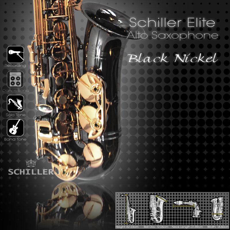 Elite Luxus V Alto Saxophone – Black Nickel & Gold