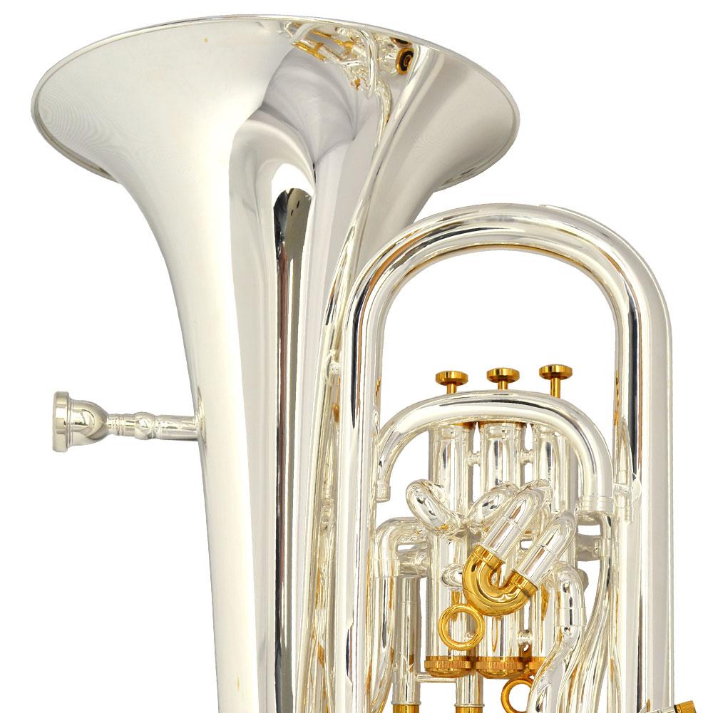Elite IV Compensating Euphonium – Silver & Gold