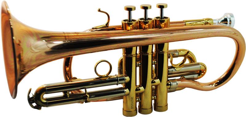 CenterTone Bb Cornet – Rose Brass w/ Gold Accents
