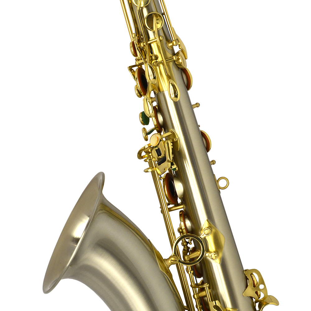 Elite V Tenor Saxophone – Brushed Silver Steel Stainless Finish