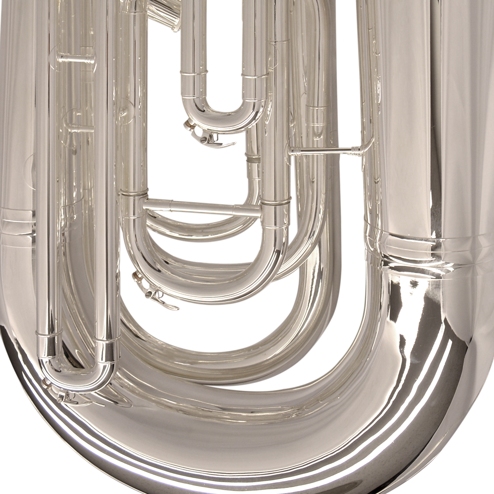 Elite Compensating Tuba BBb – Silver Plated