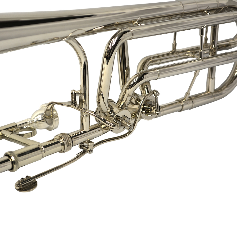 American Heritage Double Rotor Trombone – Nickel Plated