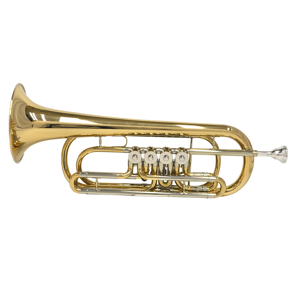 Elite Frankfurt Rotary Bass C Trumpet – Rose Gold