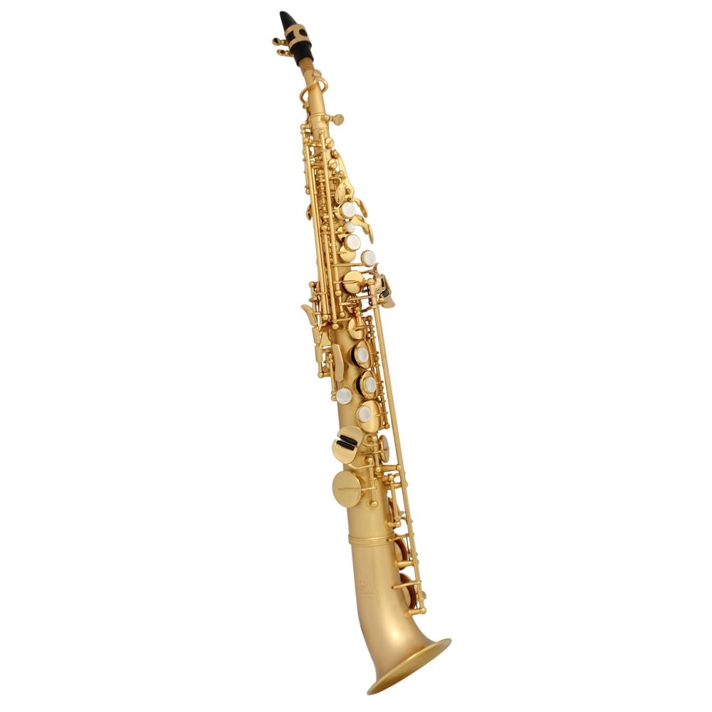 Elite V La Première Soprano Semi-Curved Saxophone – Gold Satin