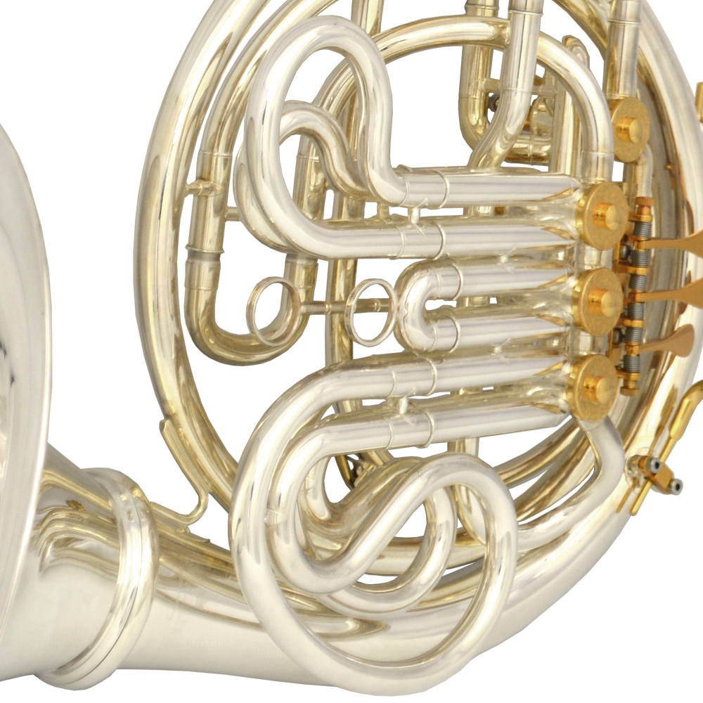 Elite VI French Horn with Removable Bell – Silver & Gold