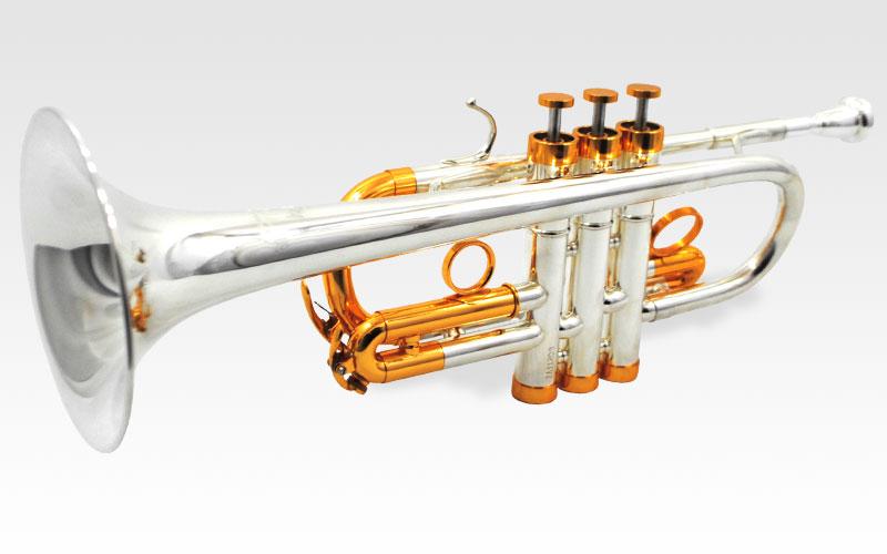Centertone D/Eb Trumpet – Silver & Gold