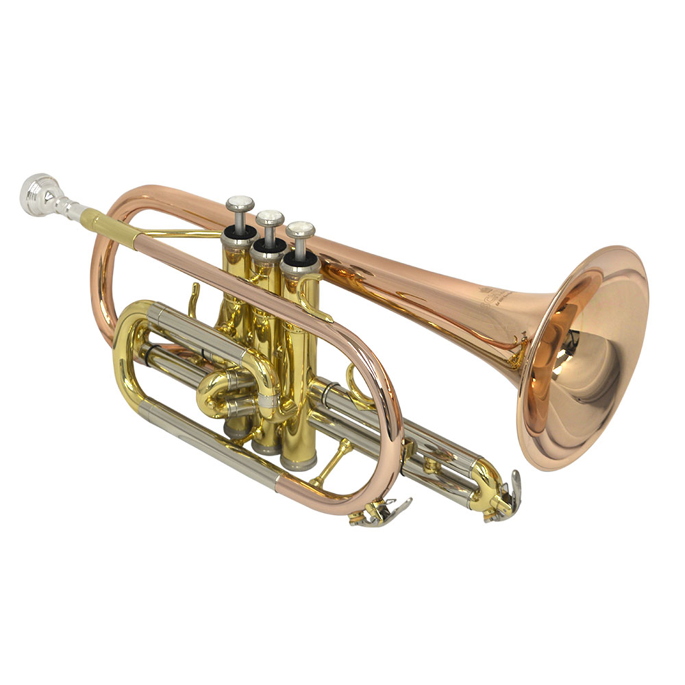 Elite Shepherds Crook Pro Cornet – Rose Brass & Gold