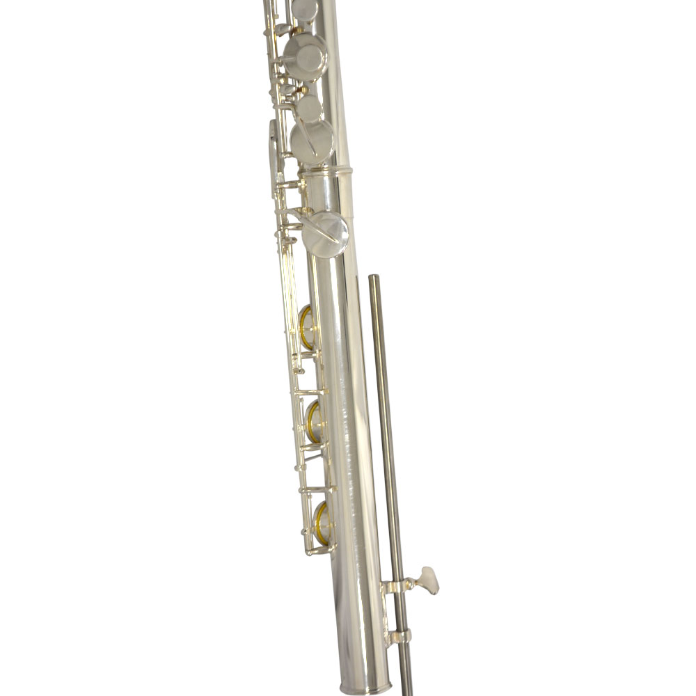 Elite Studio Standing Bass Flute – with Large Bore and Silver Plated Headjoint