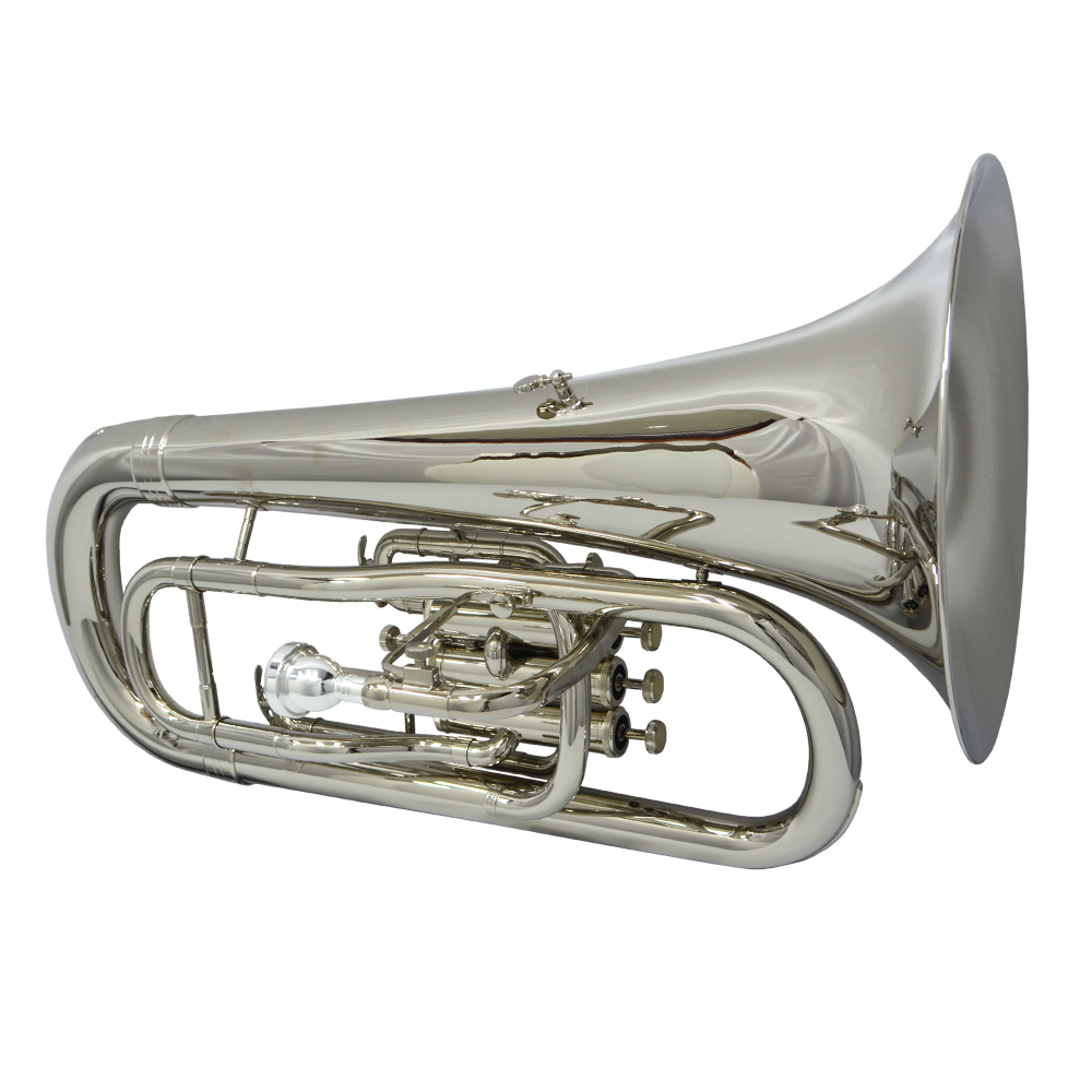 Elite III Euphonium with Convertible Marching Pipe – Nickel Plated