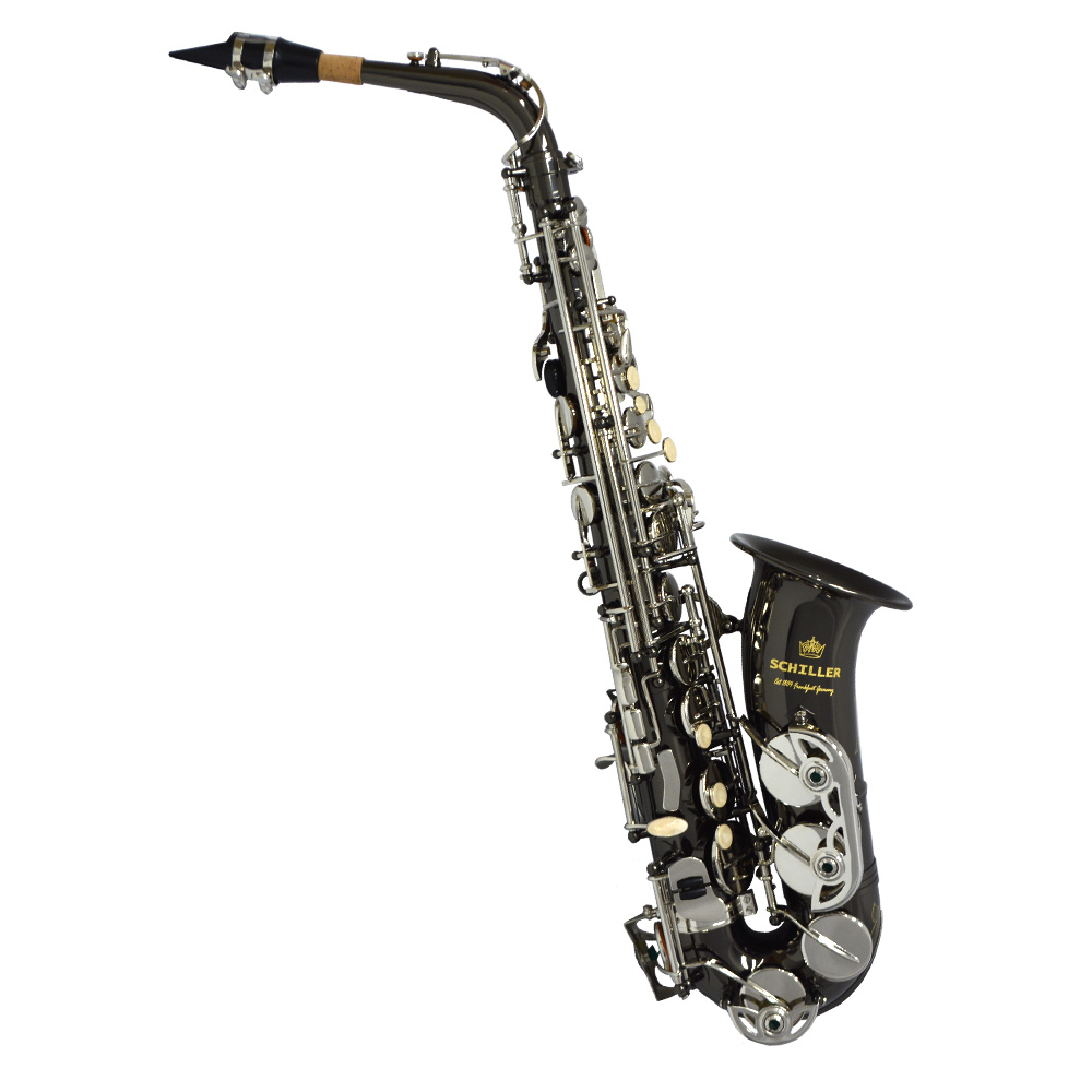 American Heritage 400 Alto Saxophone – Electro-Black and Silver