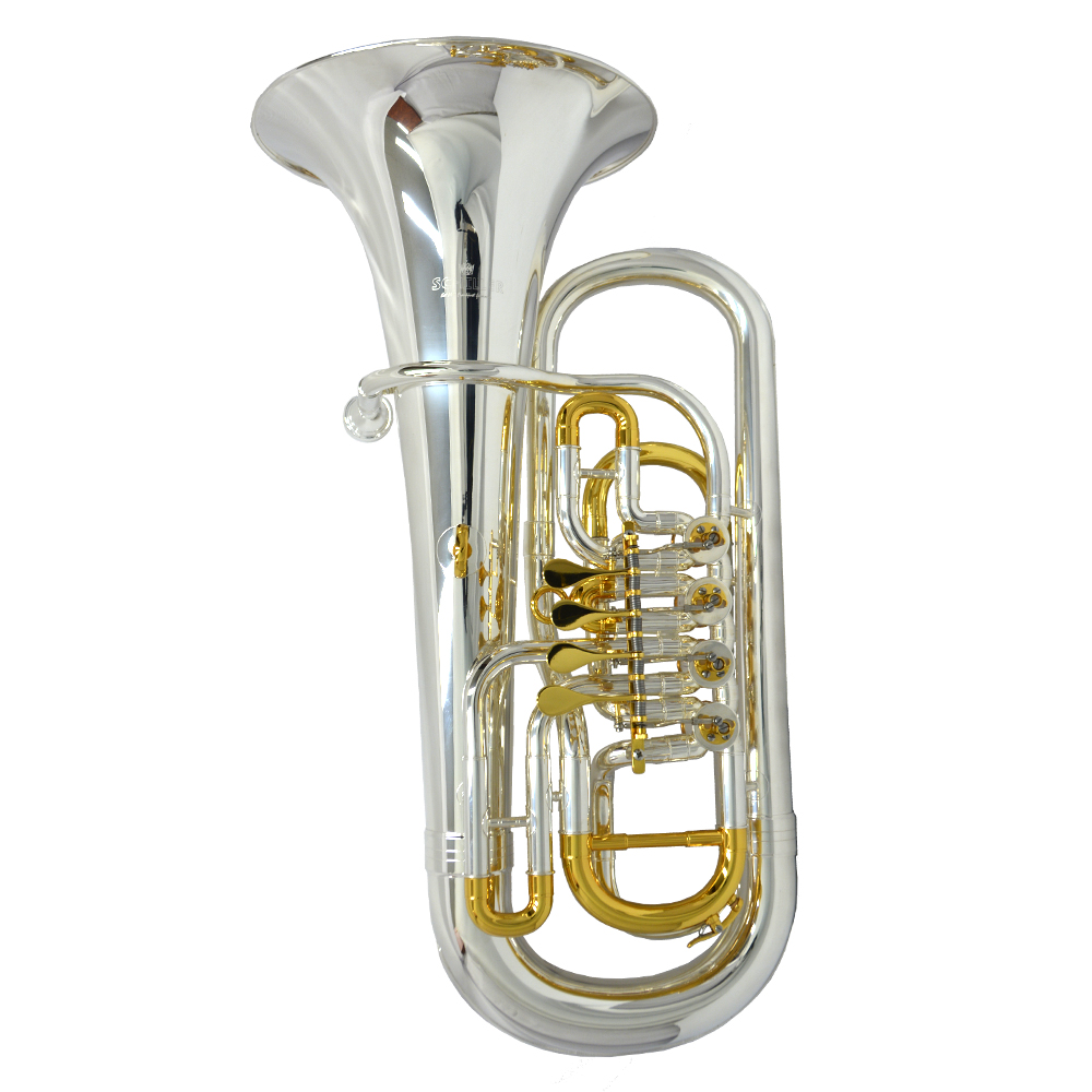 Elite 4 Valve Rotary Euphonium – Silver & Gold Plated