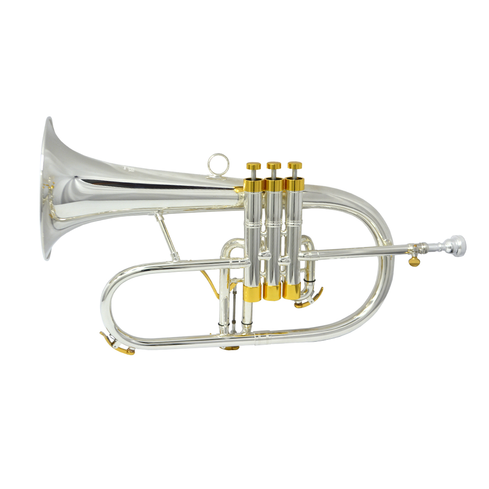 Flugelhorn Studio Artist – Silver Plated with Gold