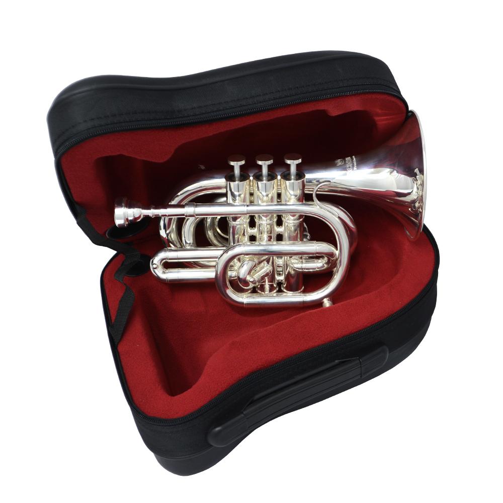 CenterTone Pocket Trumpet – Silver Plated – Key of C