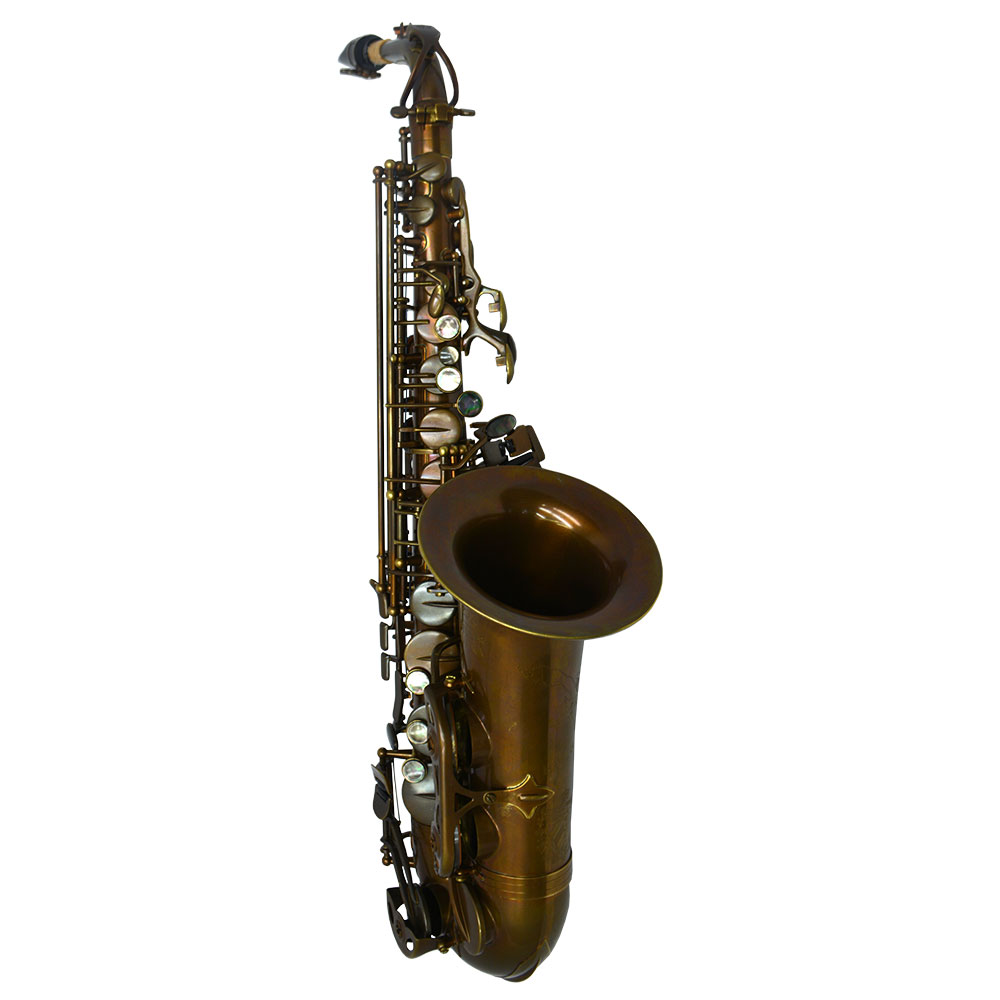 Premier Havana Alto Saxophone – Dark Unlacquered Duralast Finish