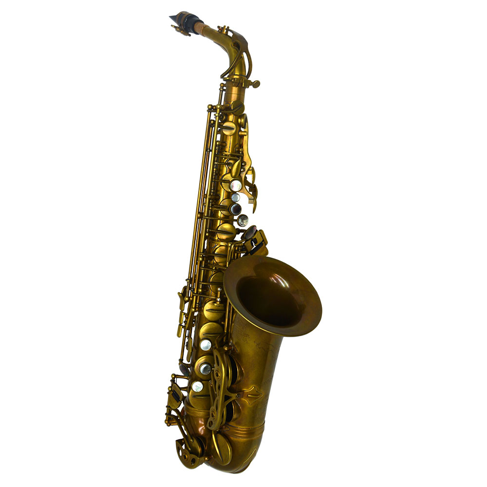Premier Havana Alto Saxophone – Light Unlacquered Duralast Finish