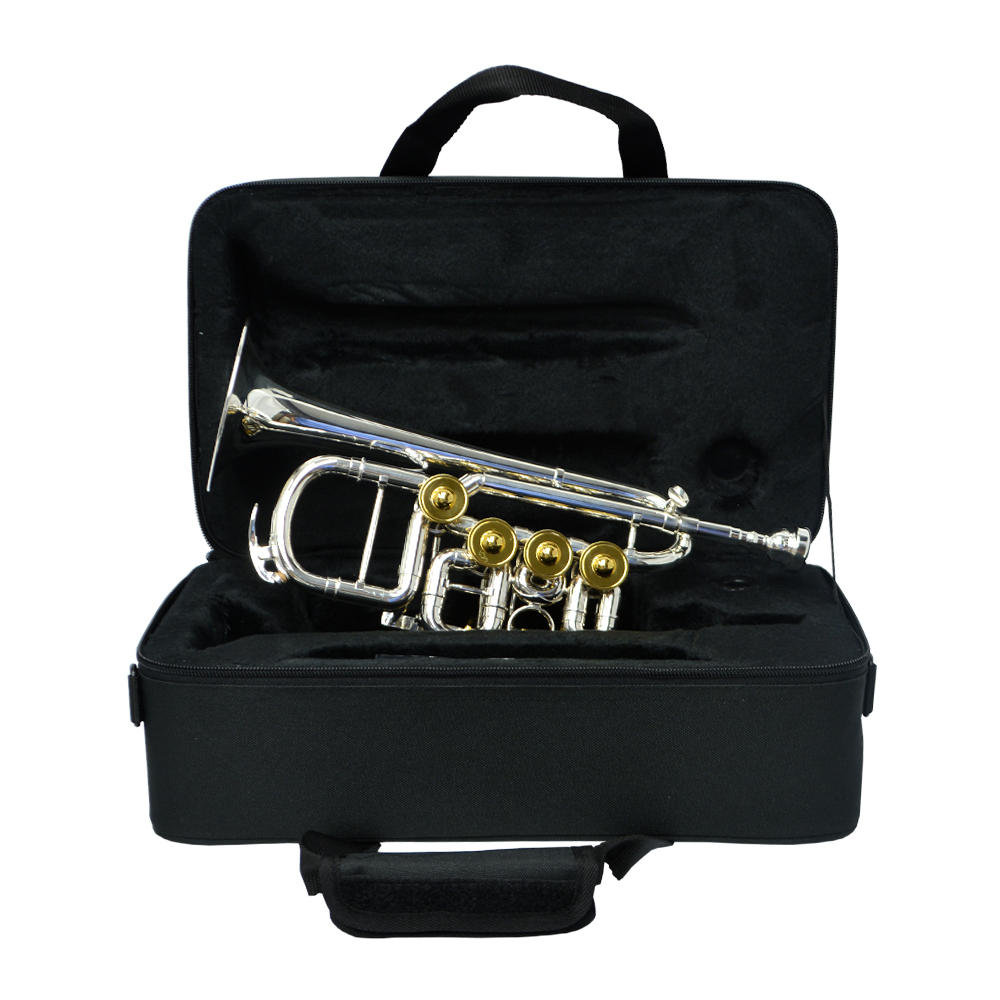 Elite Rotary Valve Piccolo Trumpet – Silver & Gold